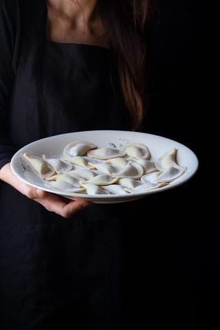 Homemade ravioli pasta