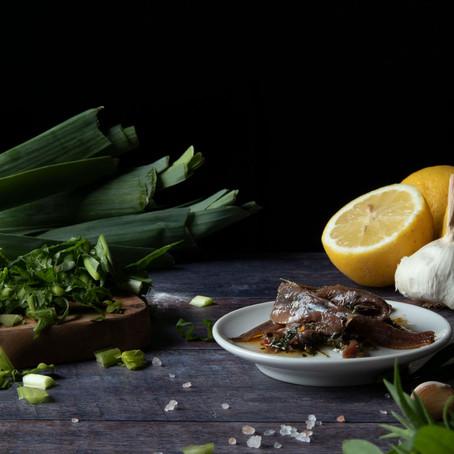 Savoury Pancakes with Spring Herbs and a Green Side Dish
