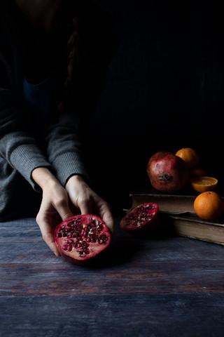 Pomegranates and Tangerines