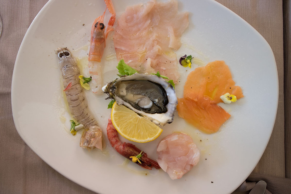 Fine dining in Venice   Raw fish   Vini da Gigio
