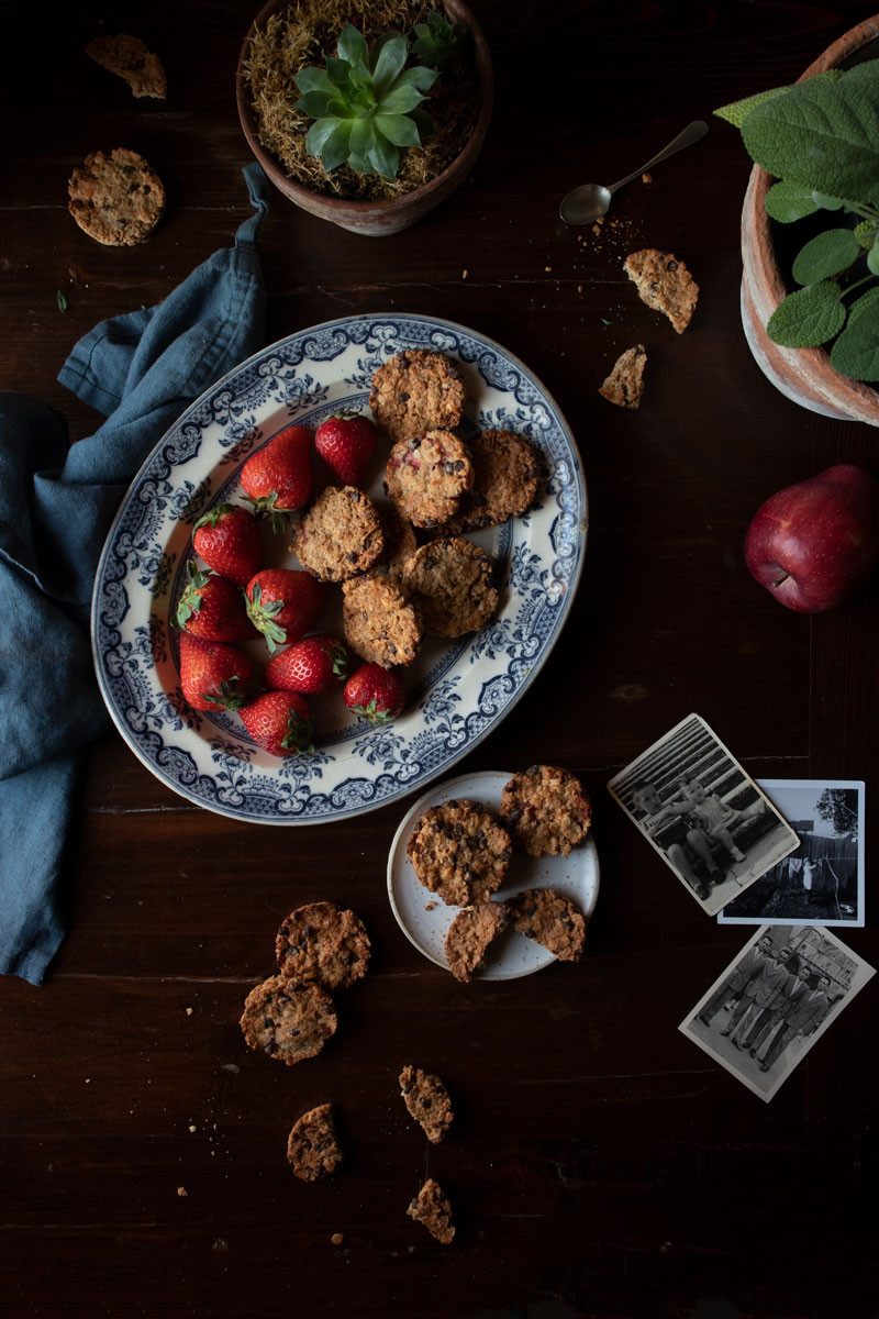 Vegan Cereal, Nuts, and Strawberry Cookies