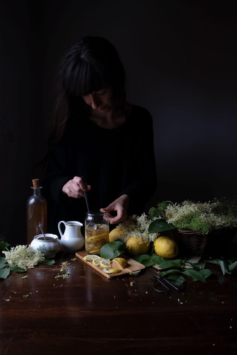 Refreshing elderflower drink
