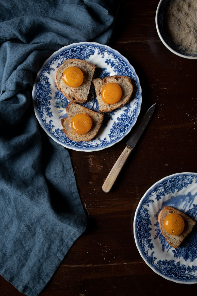 Marinated Egg Yolks   vegetarian Recipes with eggs