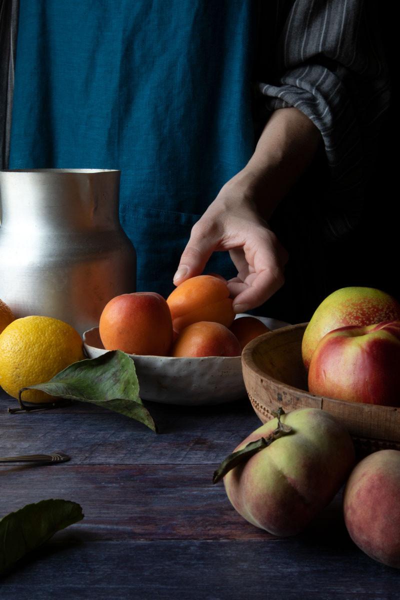 Nectarine, Apricot, Jam and Ricotta Tart