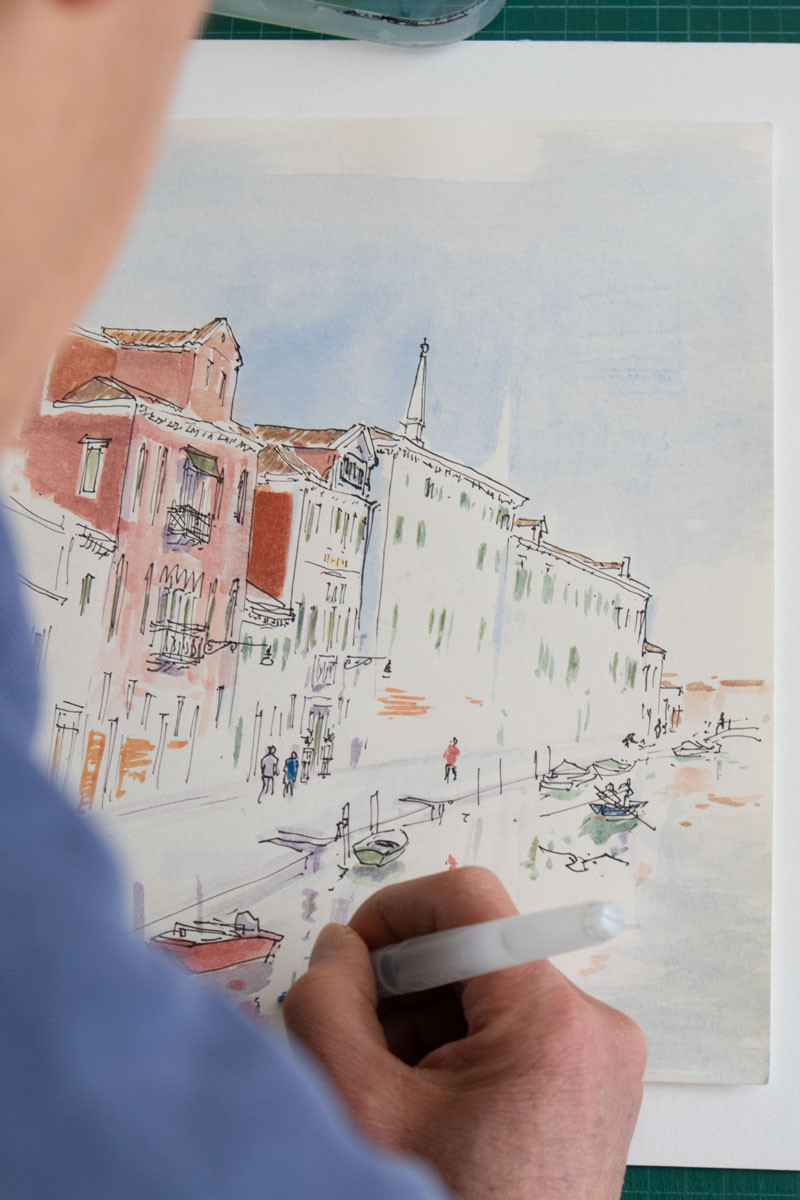 Venice based artist Nelson Kishi | Venice Drawings