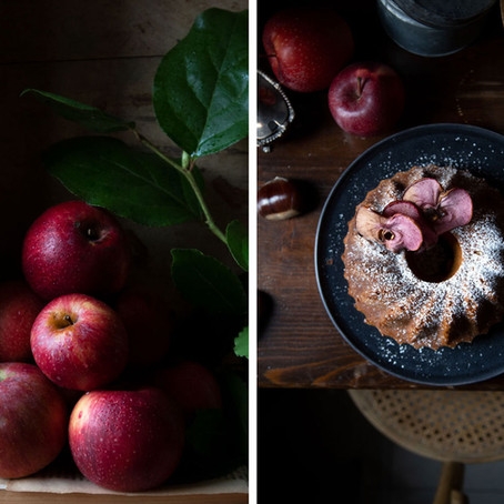 Blended apples and chestnut cake