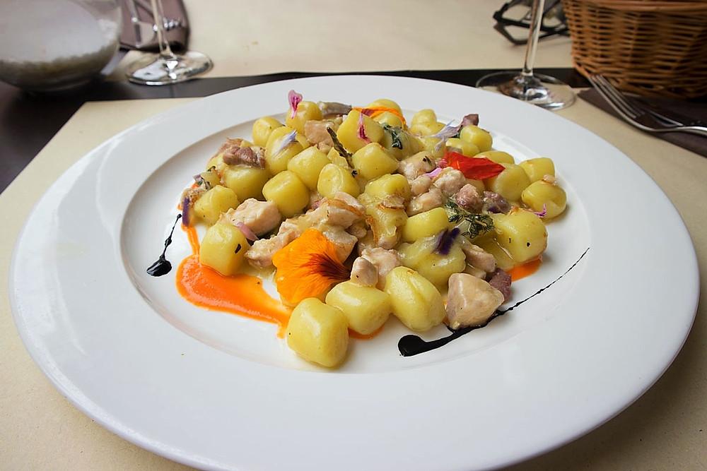 Gnocchi with swordfish and aubergine | Osteria alla Frasca | Venice