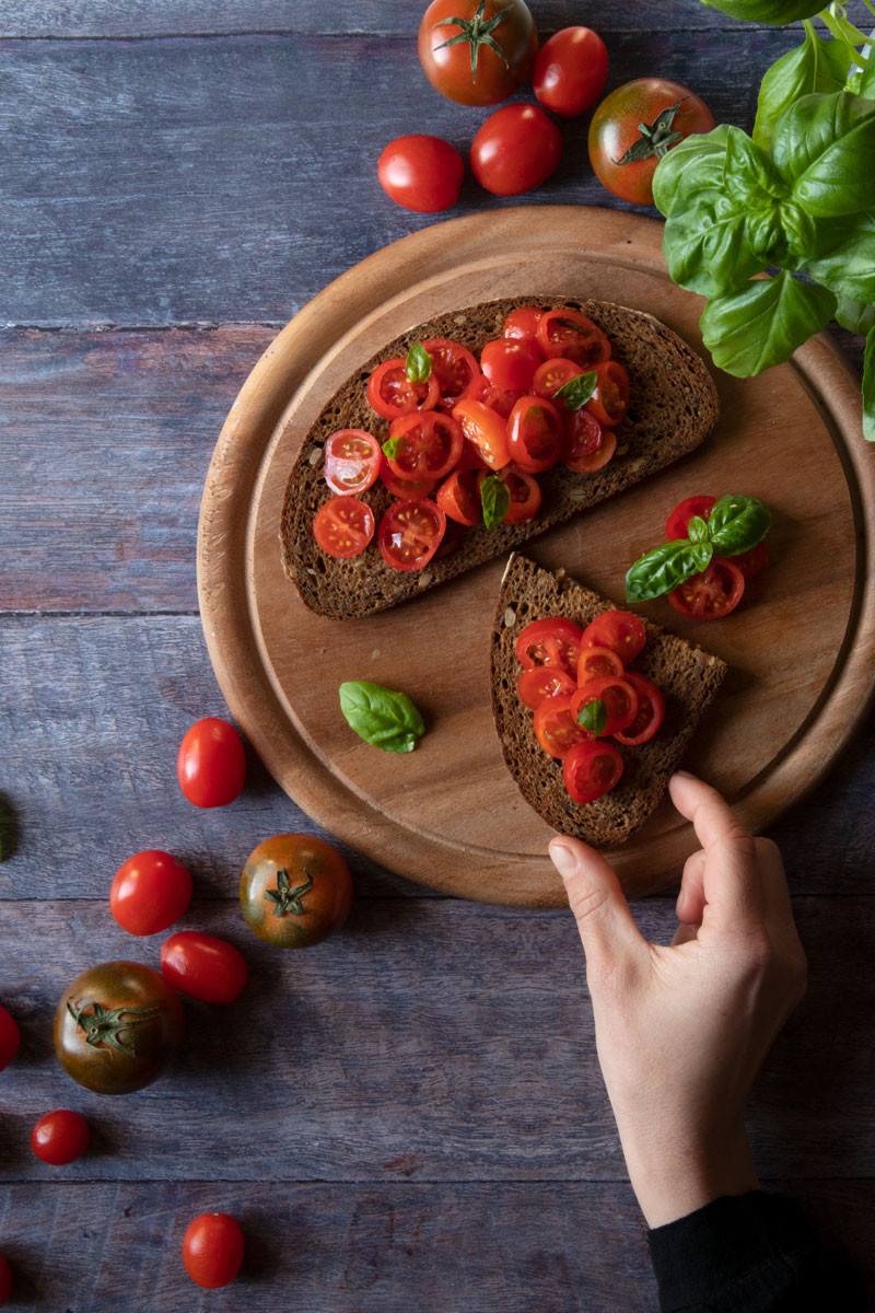 Bruschette with Tomatoes Recipe | Naturally Epicurean