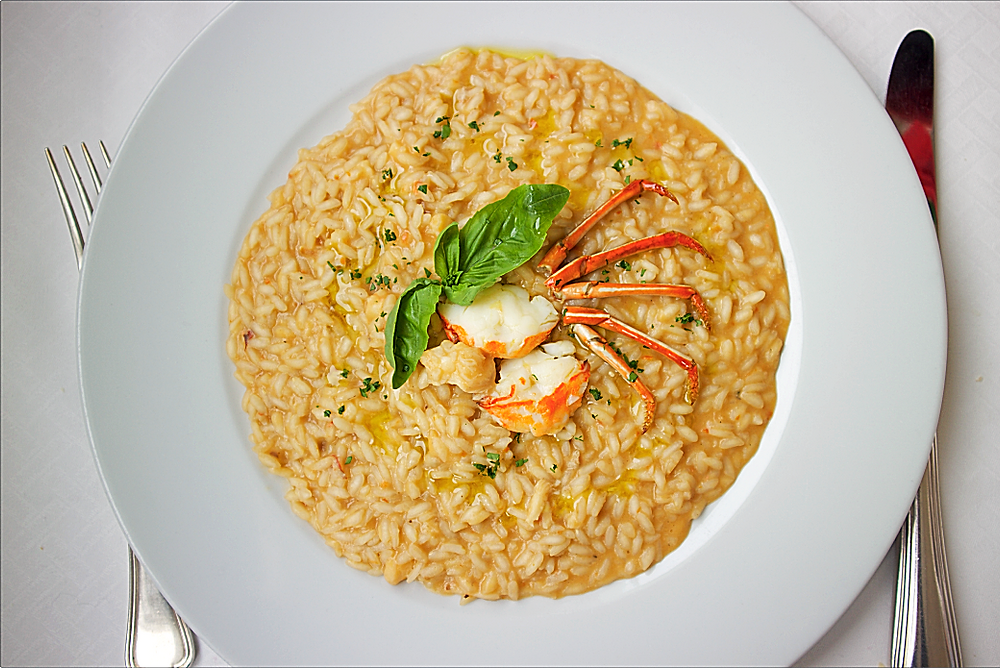 Lobster risotto at 'Essentiale restaurant, Venice