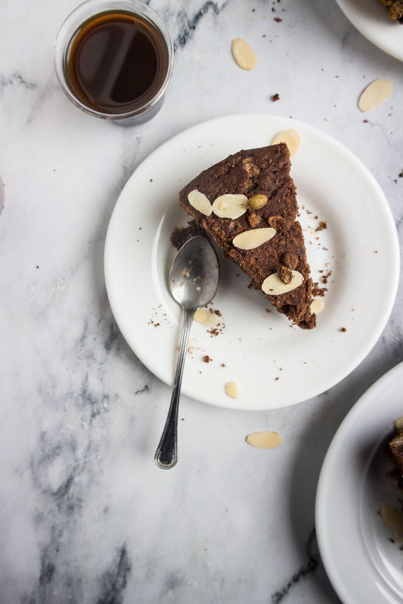 Easy coffee and cocoa cake | no butter, no eggs, no milk