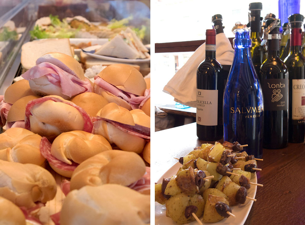 Cicchetti and quality wine in Venice: Salumeria in Via Garibaldi (Castello)