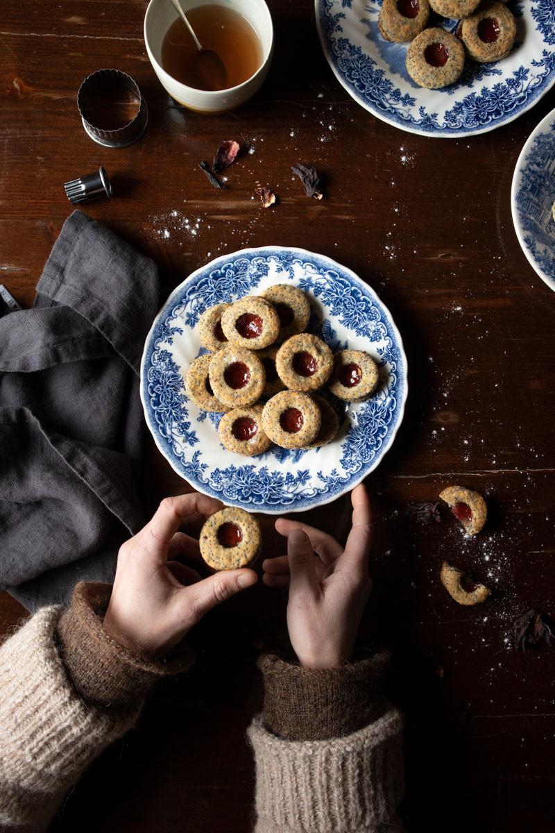 vegan spelt and apple cookies
