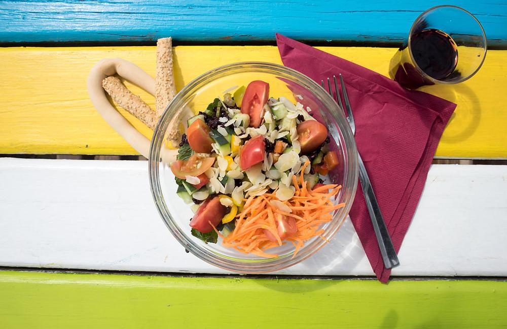 Vegetarian rice salad | Chiosco Macondo | Alberoni beach