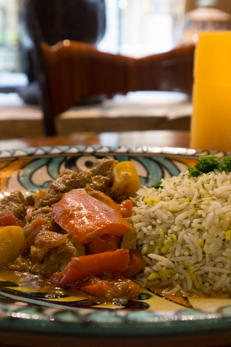 Lamb stew and rice | Ethnic restaurant in Venice - Italy | Africa Experience