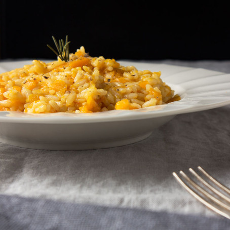 Seasonal risotto with roasted pumpkin