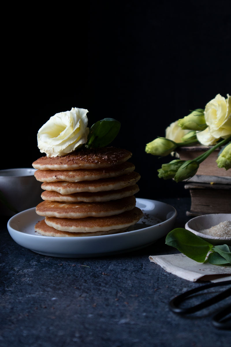 Pancakes with tangerine juice chocolate and honey | Naturally Epicurean blog by Nicoletta Fornaro