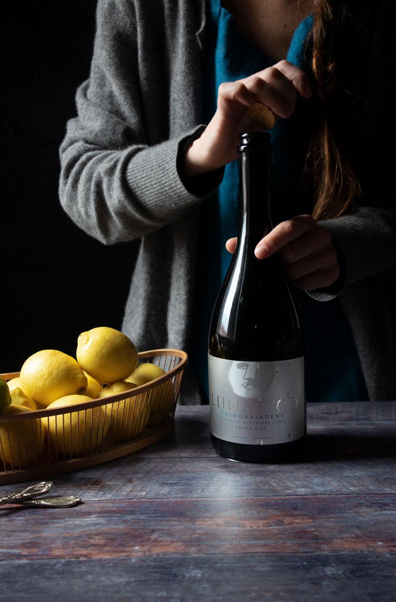 Lemon Sorbet also called Lemon Sgroppino