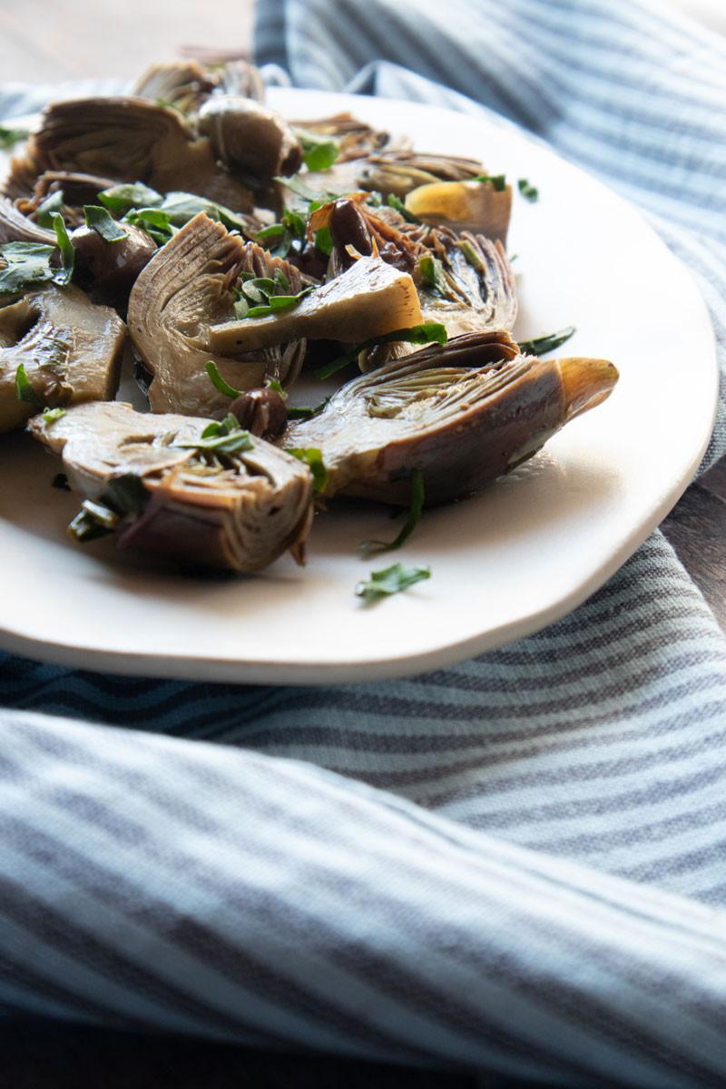 Three Vegetarian Recipes with Artichokes