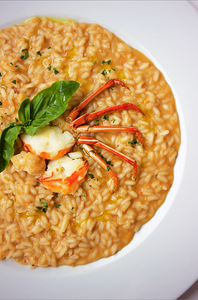 Lobster risotto, L'Essentiale restaurant, Venice