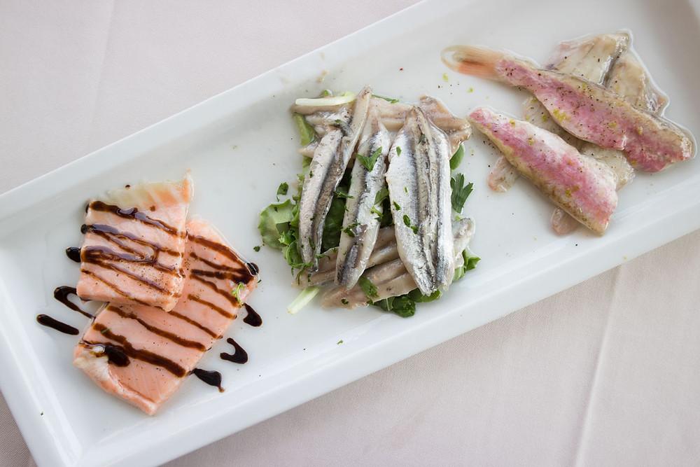 Marinated fish | Trattoria Altanella | Giudecca (Venice)