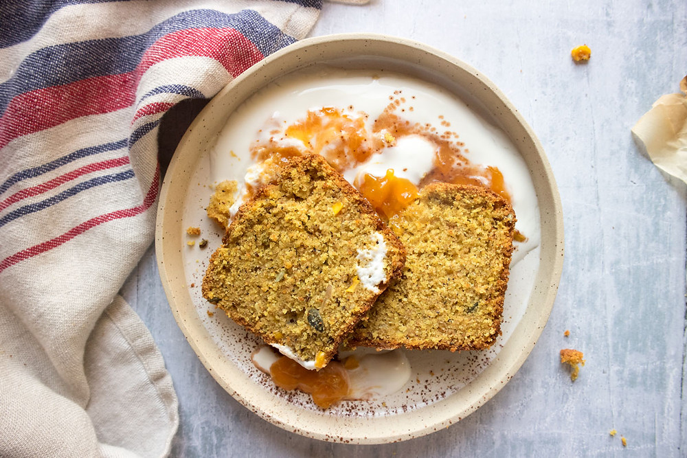 Sweet Polenta, Turmeric and Corn Bread