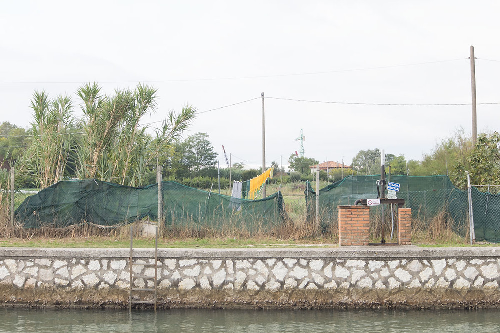 Farms in the Venice lagoon: the island of Vignole