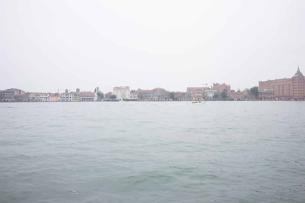 View of Giudecca from Zattere on a foggy day | Venice - Italy