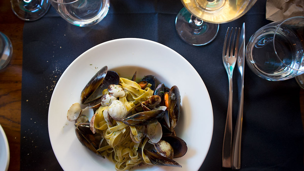 Pasta with clams and mussels, Osteria Trefanti, Venice