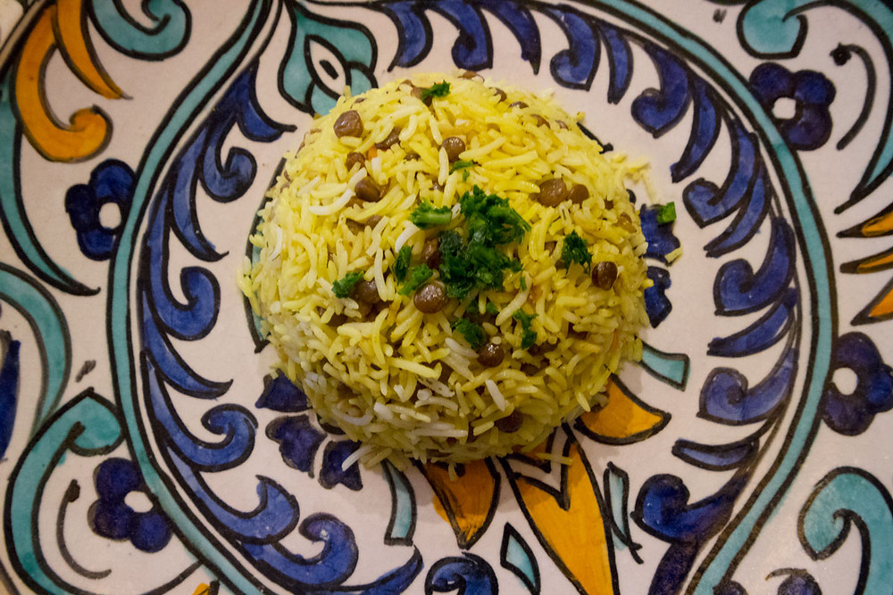Rice with curry and lentils | Ethnic restaurant in Venice - Italy | Africa Experience