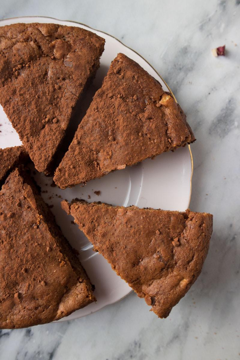 Bitter Sweet Breakfast Cake with Radicchio, Dark Cocoa and Cherry Jam