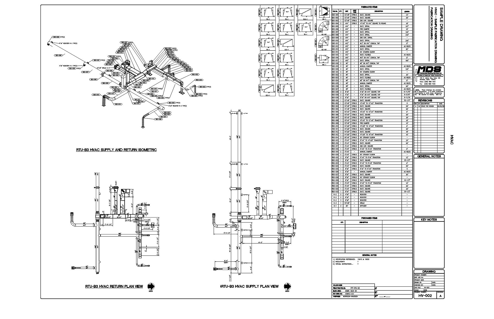 Hvac Drawing Notes | Wiring Diagram