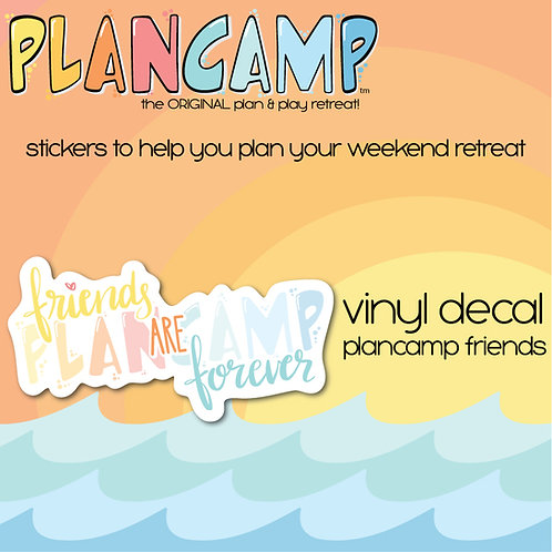 PlanCamp 2019 Vinyl Decal - Plancamp Friends