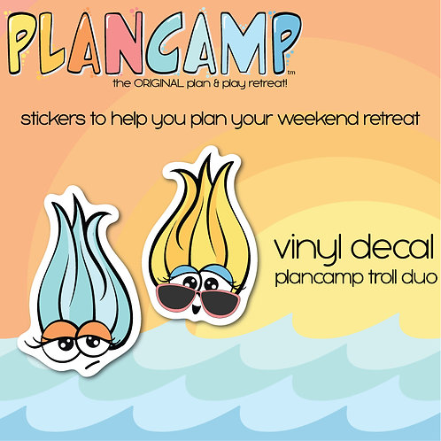 PlanCamp 2019 Vinyl Decal - Troll Duo