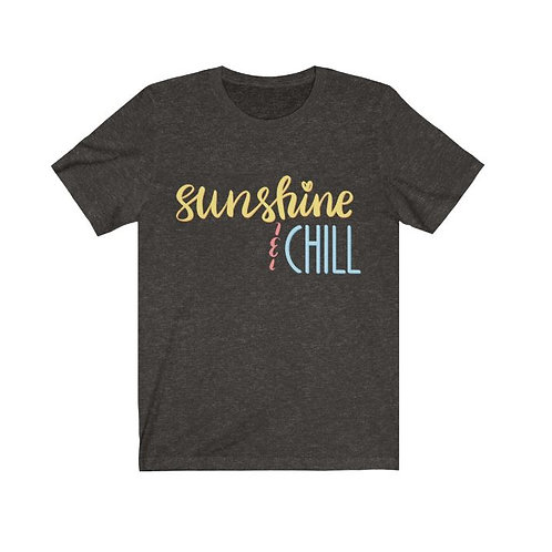 Crew Neck Short Sleeve T - Sunshine & Chill