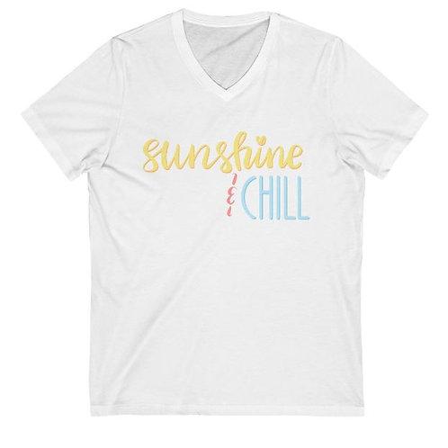 V Neck Short Sleeve T - Sunshine & Chill