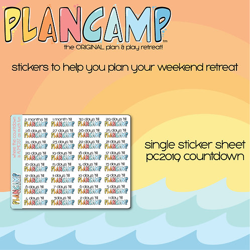 PlanCamp 2019 Countdown Stickers