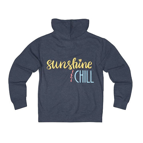French Terry Zip Hoodie - Sunshine & Chill