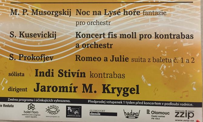 Kusevickij v Olomouci