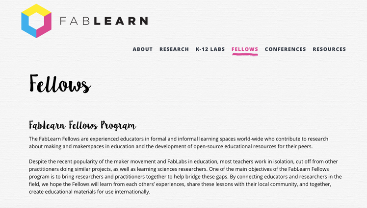 Stanford FabLearn Fellowship