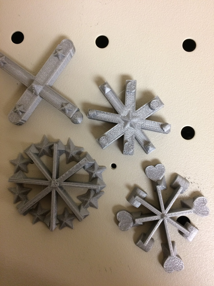 3D Snowflakes!