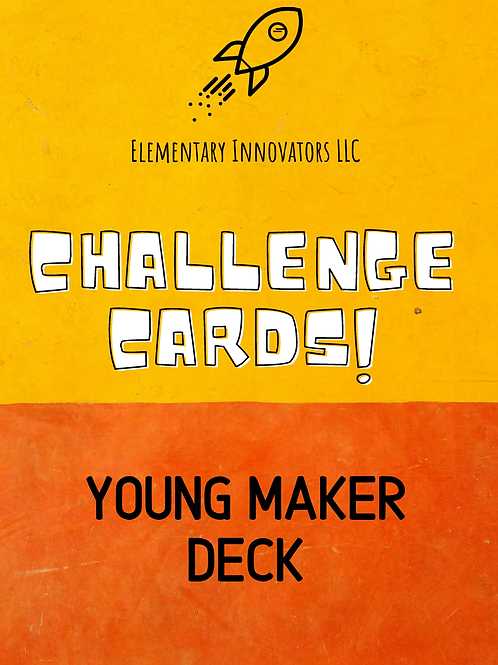 Digital Download: Young Makers (Ages 3-6) Challenge Cards