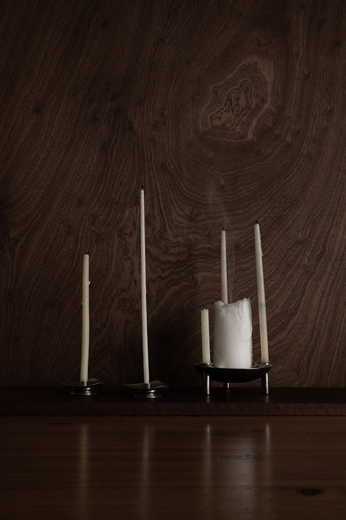 SELANDIA Set Of 2 Danish Modern Stainless Steel Candle Holders