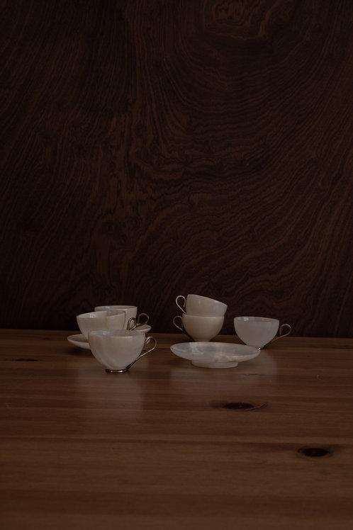 Teacup+ Saucer Set (6 Total)