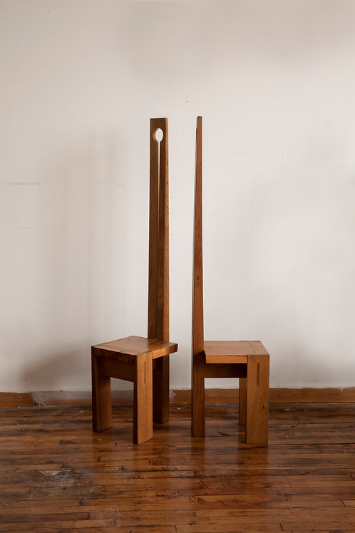 Handcrafted Wood Chairs (Set of 2_