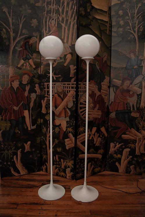 Mid-Century Matching Floor Lamps