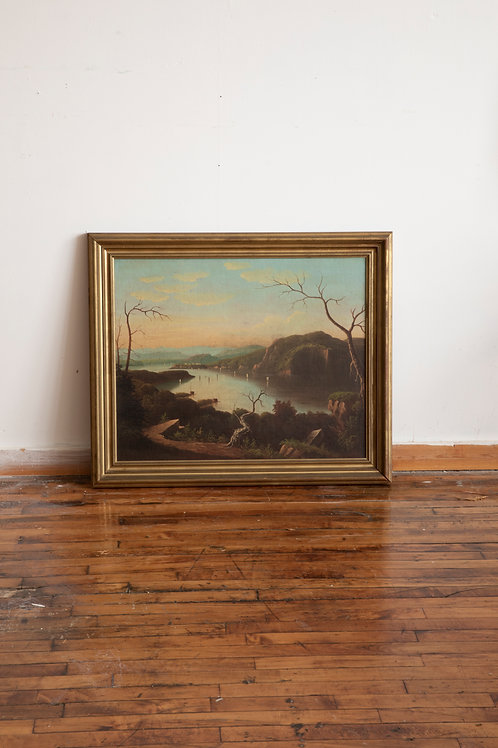 Hudson River School Painting (Set of 2)