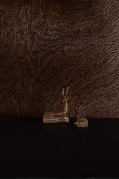 Hand-carved Wood Deer