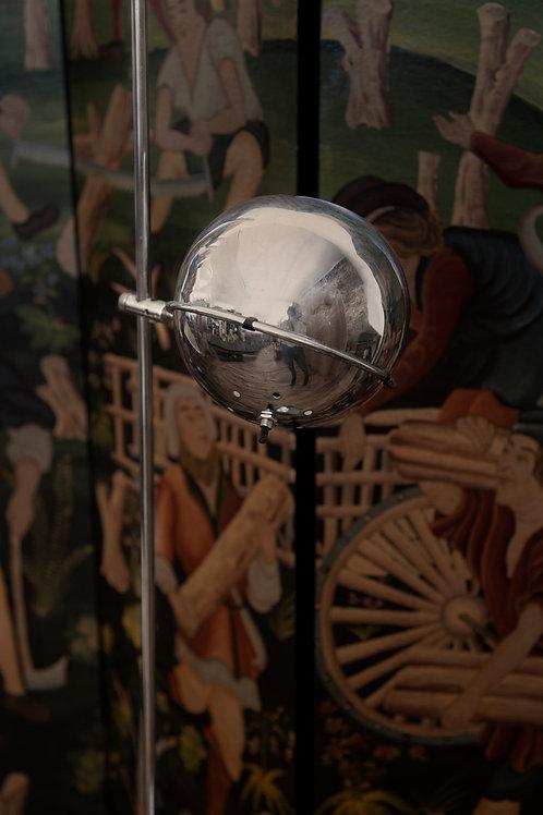 Dual Globe Floor Lamp with Metal Orb Shades