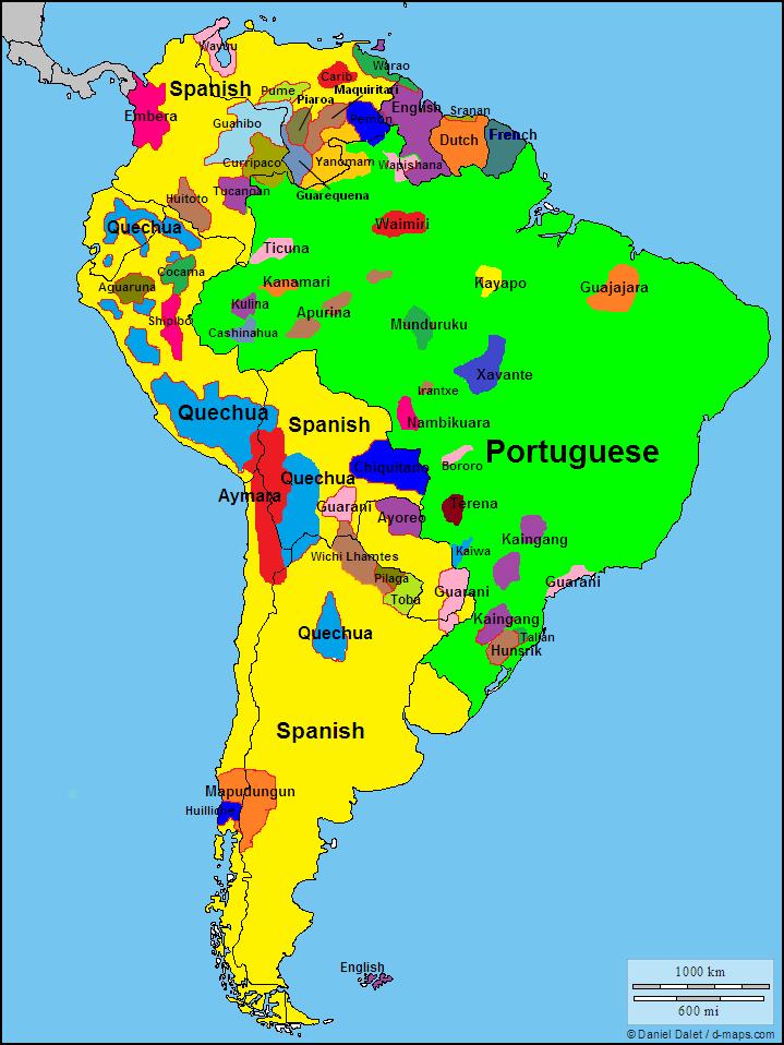 Idiomas na América do Sul