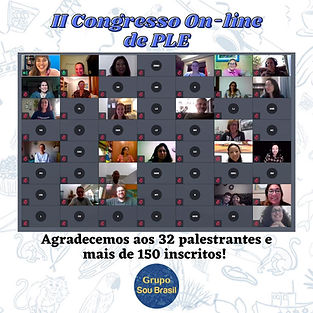 II Congresso Online Agradecimento aos 15